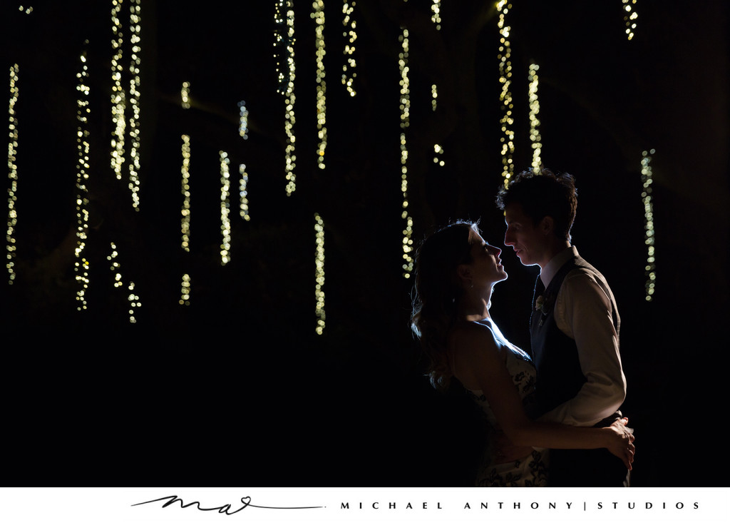 NIghttime Portraits at Calamigos Ranch Weddings