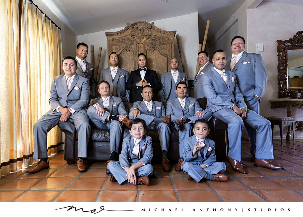 Hummingbird Nest Ranch Grooms Party Portrait
