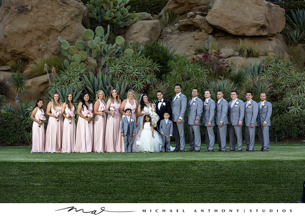 Hummingbird Nest Ranch Bridesmaids and Groomsmen