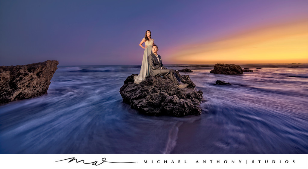 El Matador Beach Engagement Photography