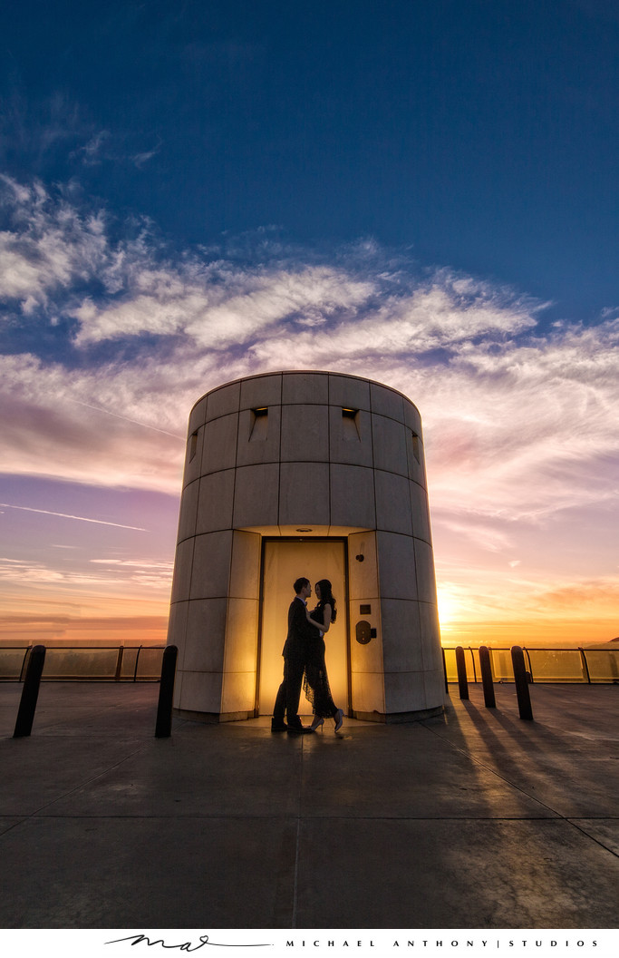 Sunset Engagement Session Griffith Park
