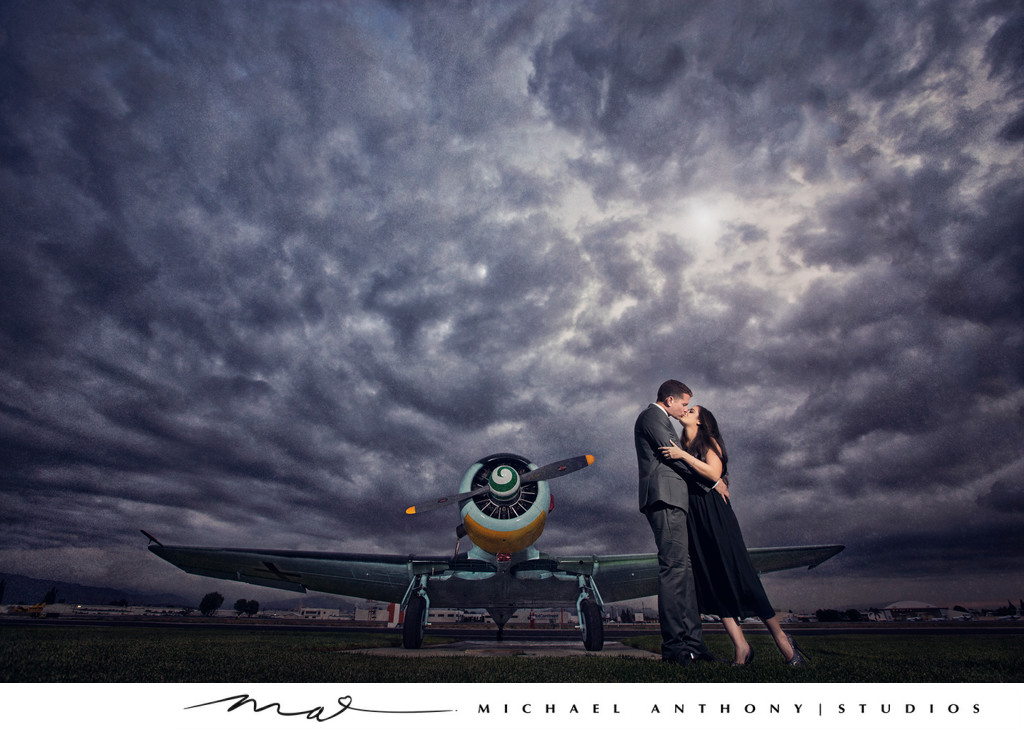 Los Angeles Engagement Photography at an Airport