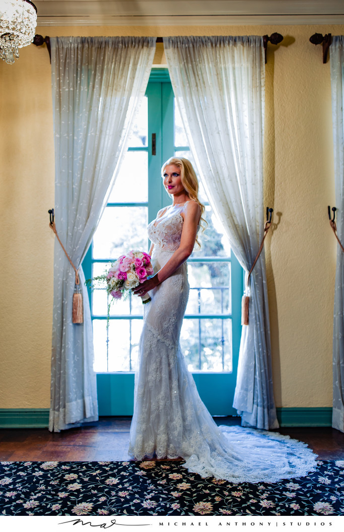 Bridal Portrait at Ebell Theatre Los Angeles