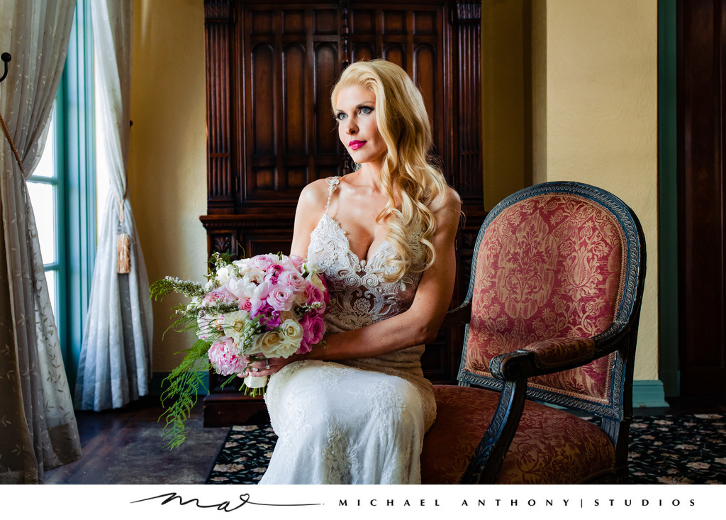 Wedding Portrait of Bride at Ebell Theatre Los Angeles