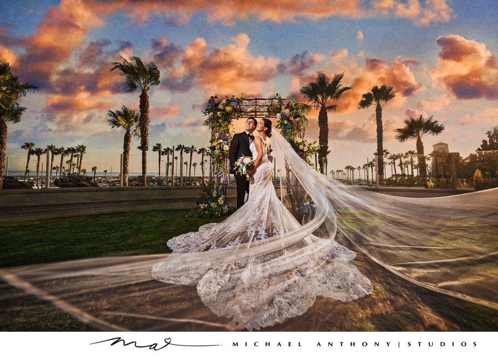 Hyatt Huntington Beach Wedding Sunset