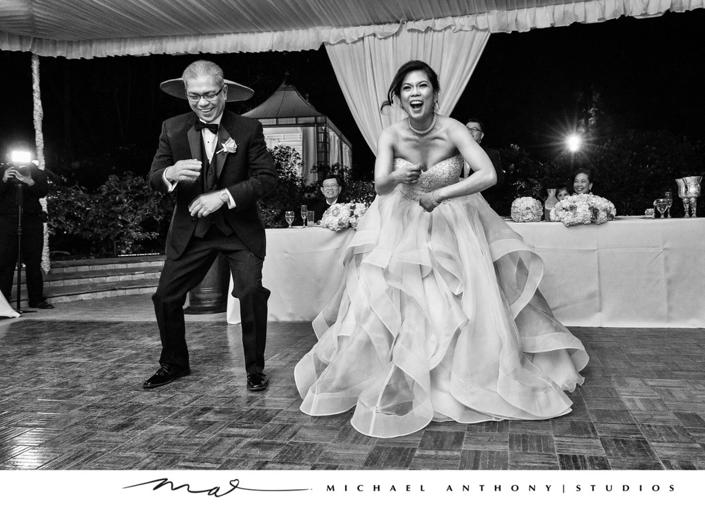 Bride Dances with Father