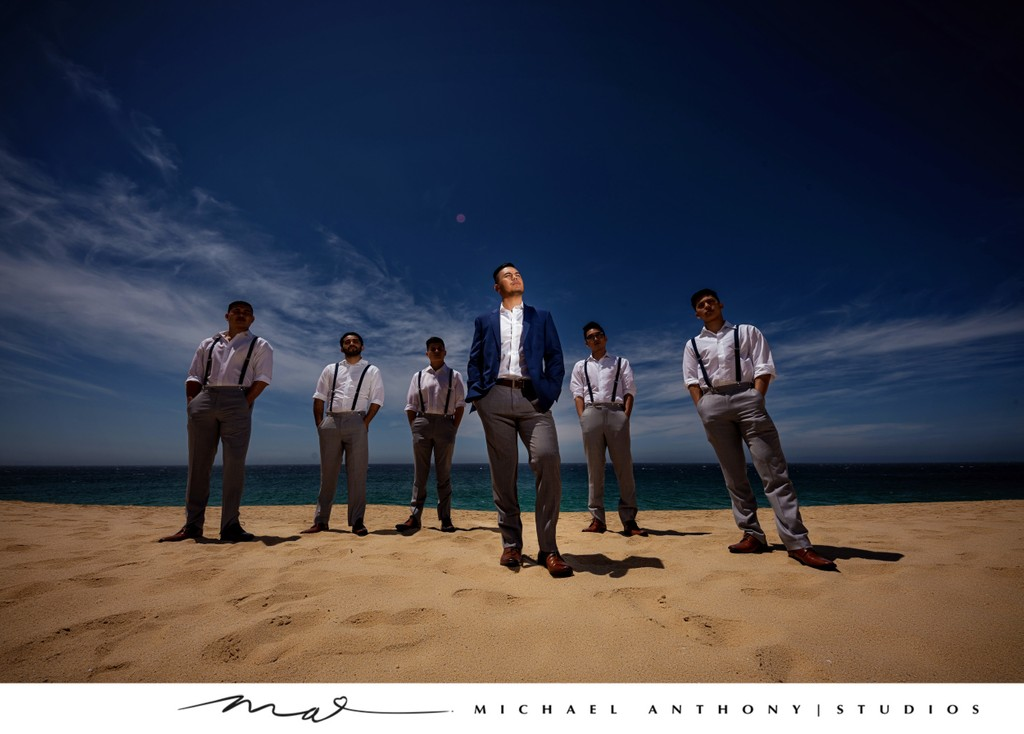 Grand Solmar Land's End Resort Wedding: Groom and Groomsmen