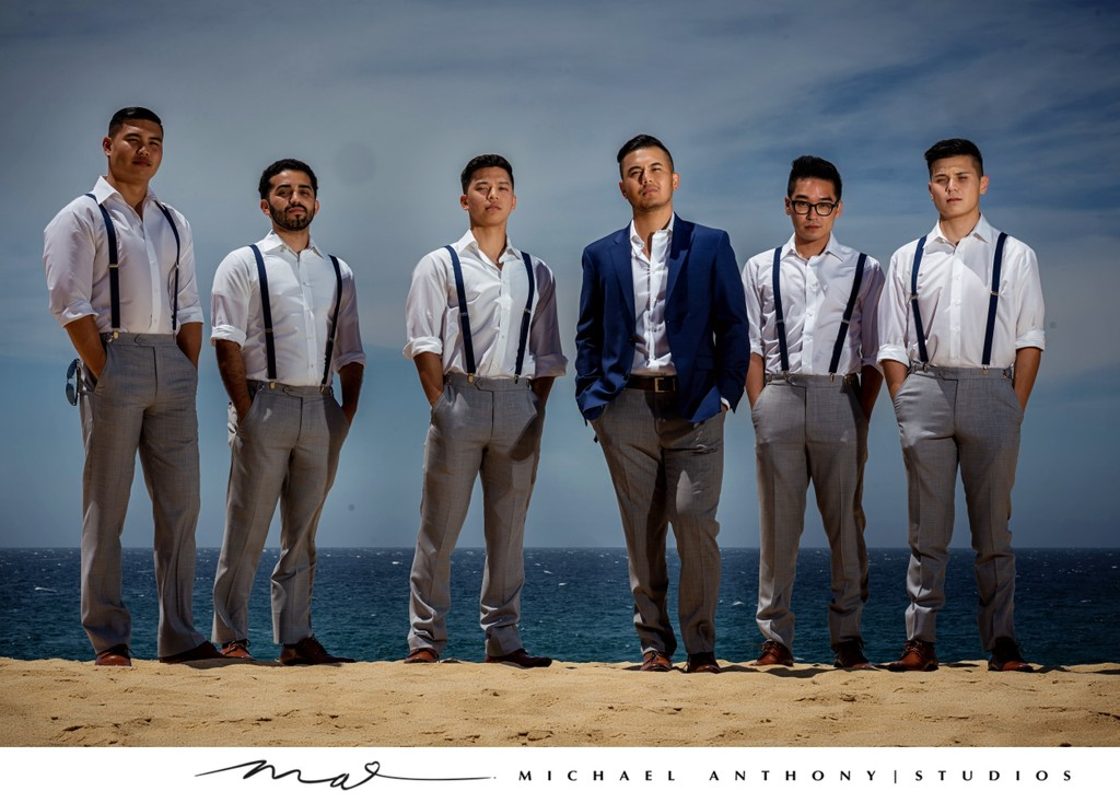 Grand Solmar Land's End Resort Wedding: Groomsmen posing