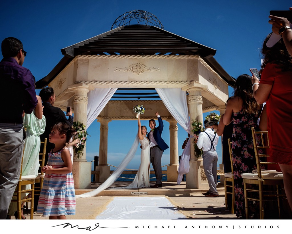 Grand Solmar Land's End Resort Wedding: Bride and Groom Pronounced Married