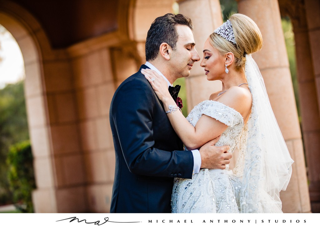 Fairmont Grand Del Mar Wedding: Bride & Groom Together
