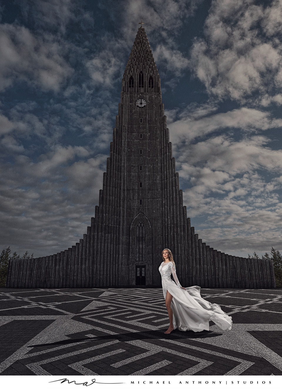 Destination Wedding in Iceland at the Church