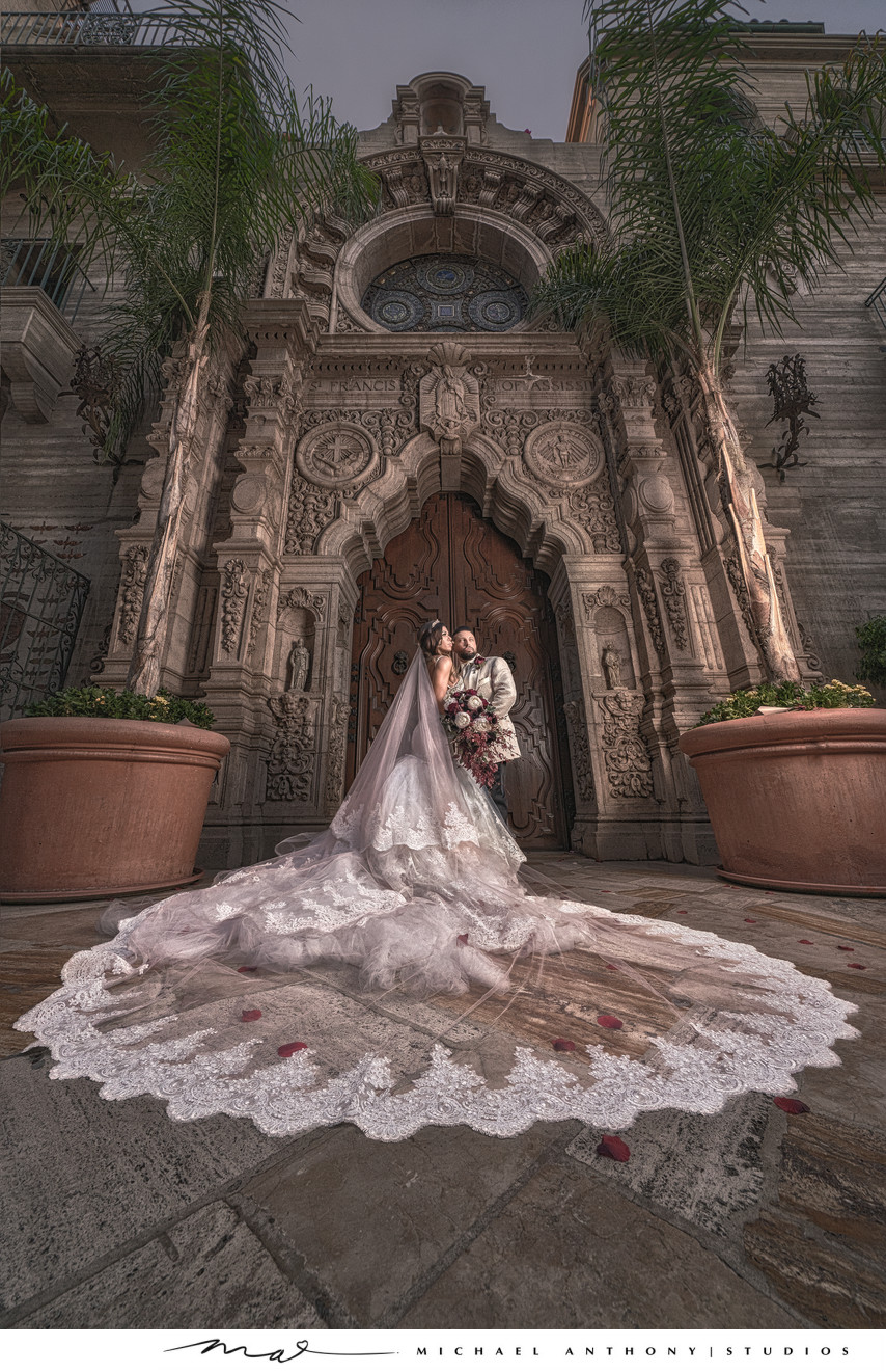 Riverside Mission Inn Wedding at St. Francis Cathedral.