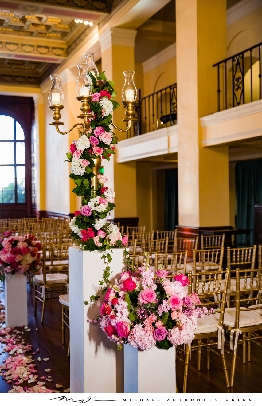Ceremony Flowers at Ebell Theatre Los Angeles