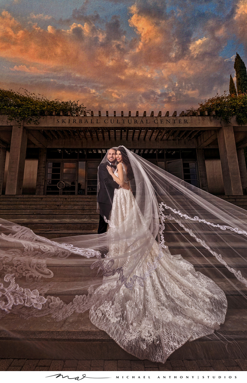 Skirball Cultural Center Wedding Photo