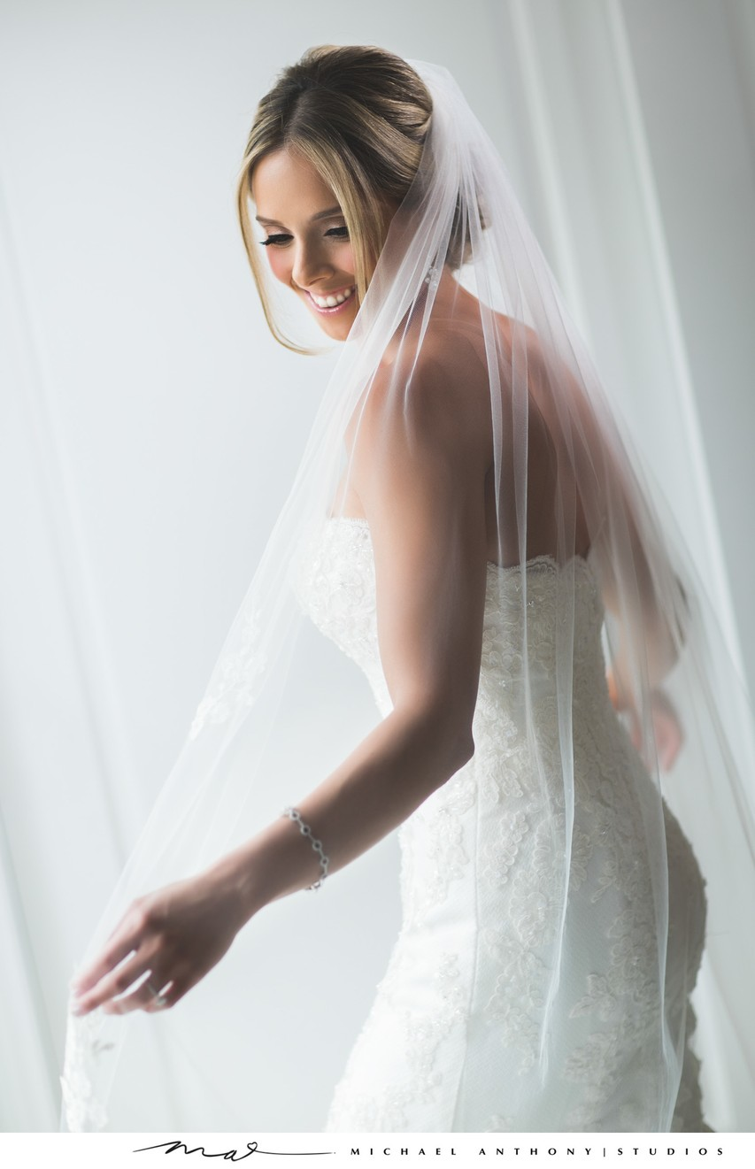 A beautiful Bride at the Ambassador Mansion