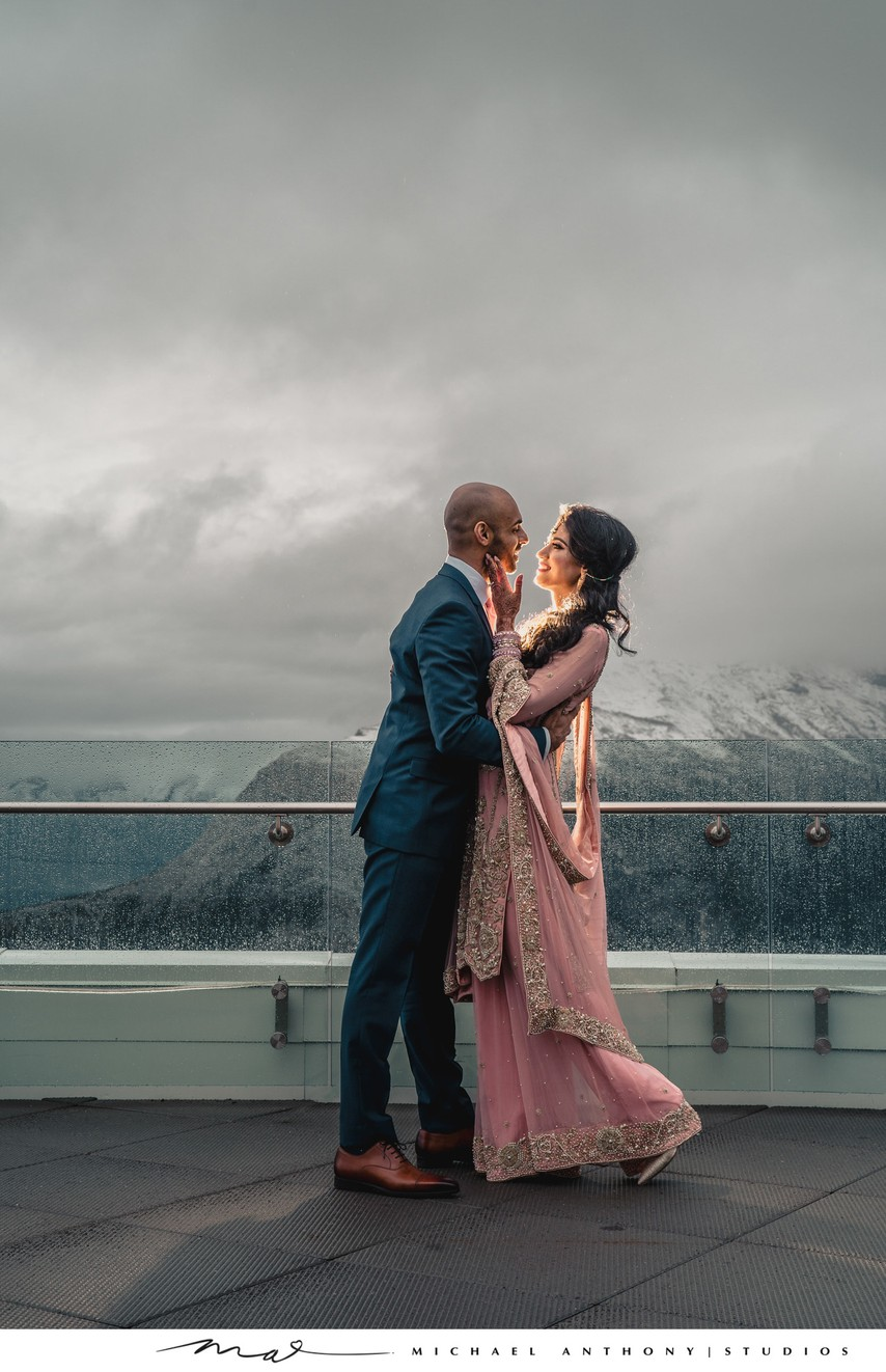 Indian Wedding Photos in the Snow