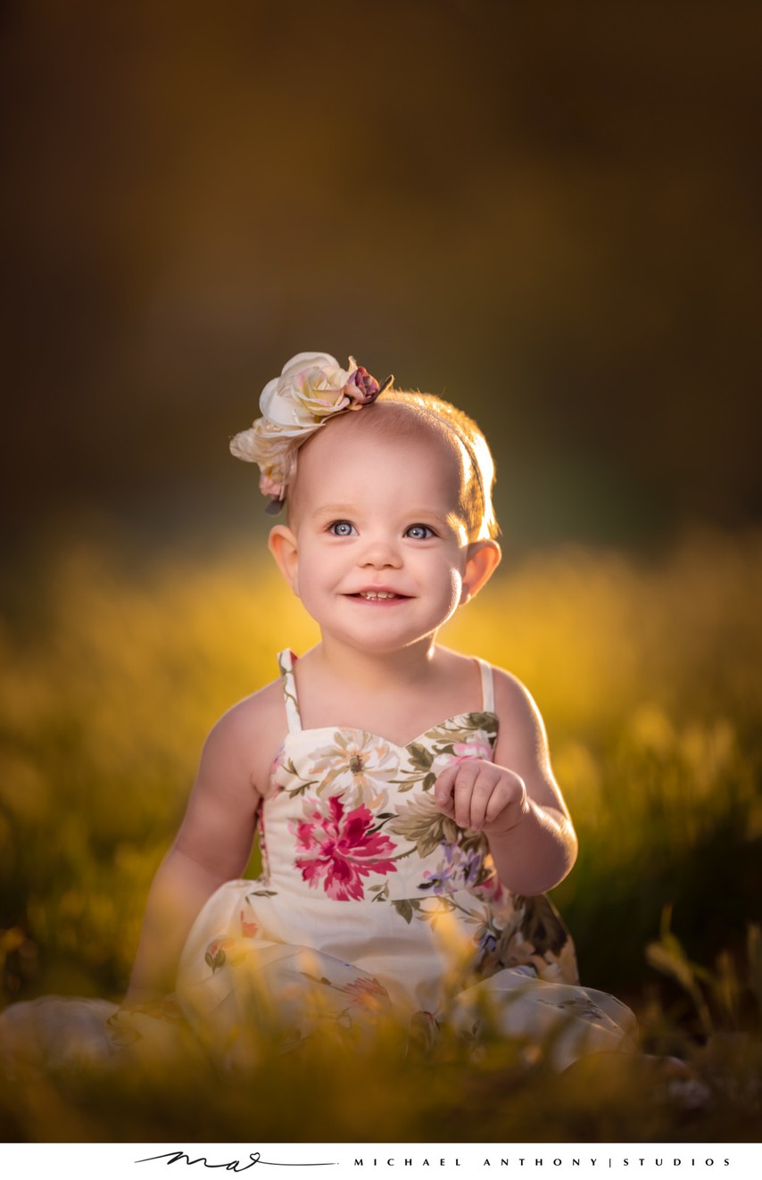 Baby Smiling for Portrait