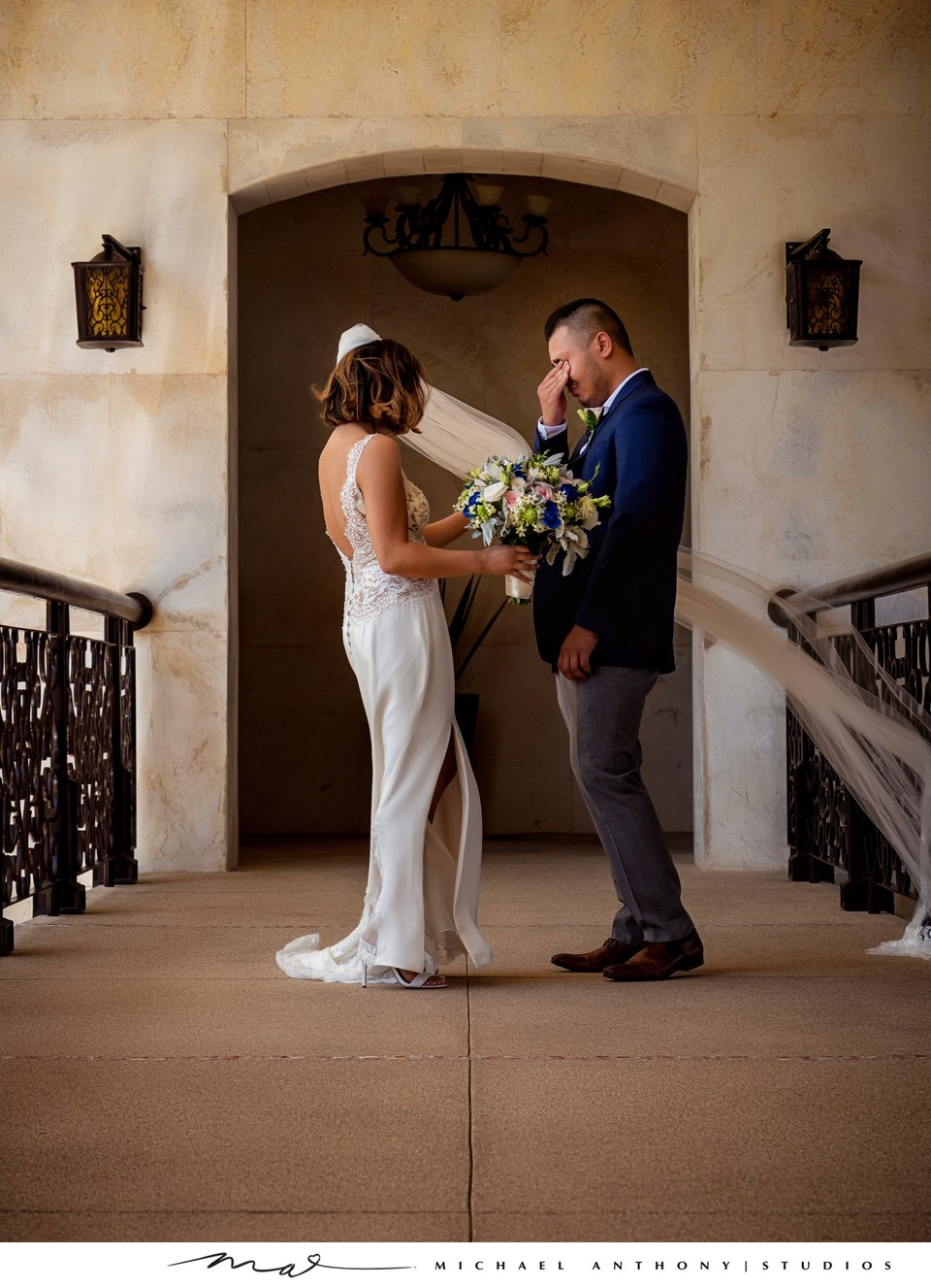 Grand Solmar Land's End Resort Wedding: Groom Sees Bride during First Look