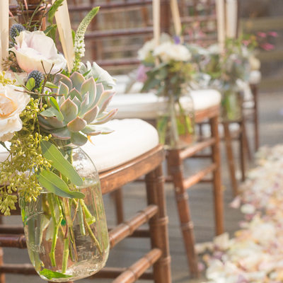Calamigos Ranch Wedding Mason Jars