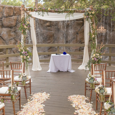 Calamigos Ranch Wedding Oak Room Ceremony