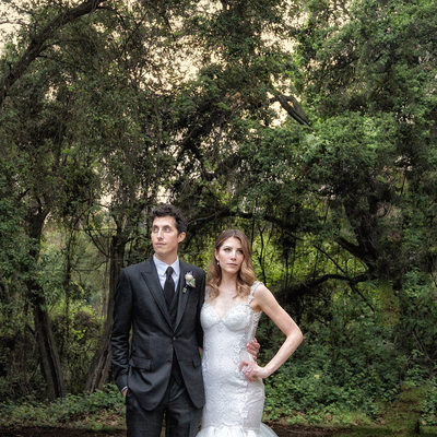 Creative Wedding Portraits at Calamigos Ranch