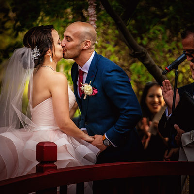 langham pasadena wedding first kiss