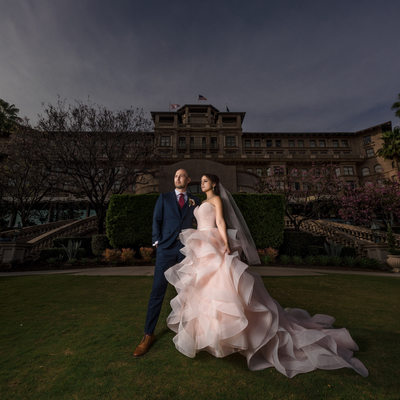 langham pasadena wedding portraits