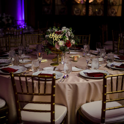 langham hotel pasadena wedding reception tables