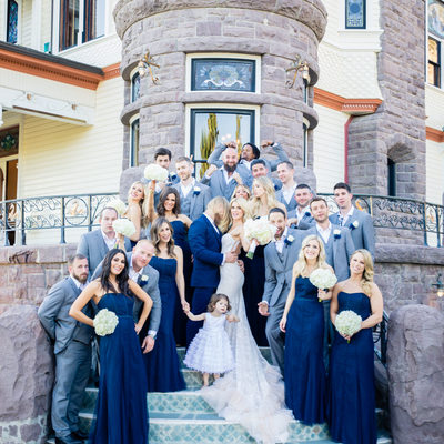Bridal Party at Newhall Mansion