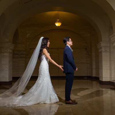 Majestic Downtown Wedding First Look