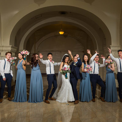 Bridal Party at Majestic Downtown Wedding