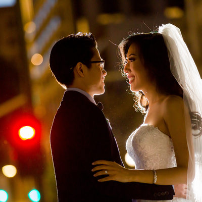 Downtown Los Angeles Wedding Portraits at Majestic Downtown