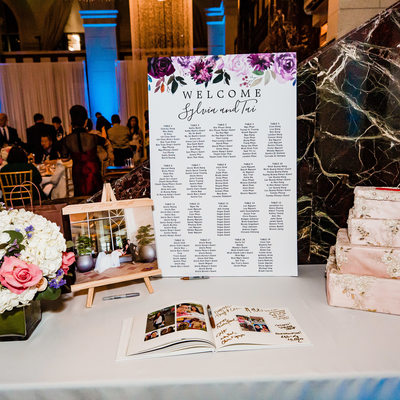 Gift Table at a Majestic Downtown Wedding