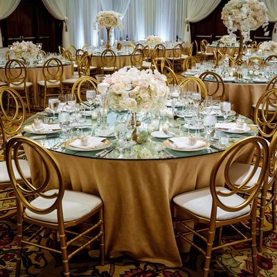 Reception Details at Four Seasons Westlake Village