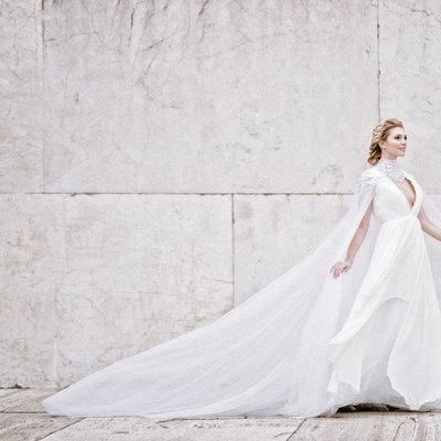 bridal fashion photo in rome