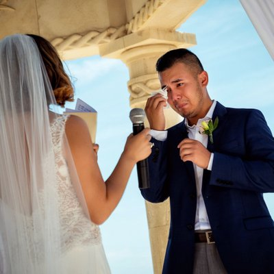 Ceremony: Groom Cries during Vows