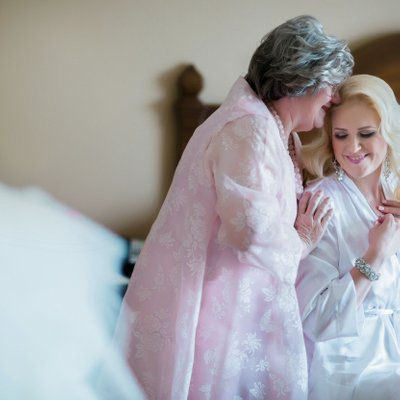 Bride Shares Moment with Mother