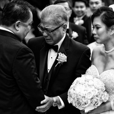 Bride's Father Hands her to Groom
