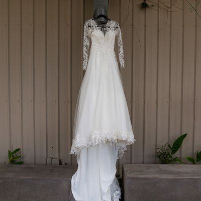 Callaway Winery Wedding: Bridal gown