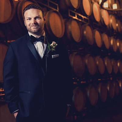 Callaway Winery Wedding:Groom Portrait