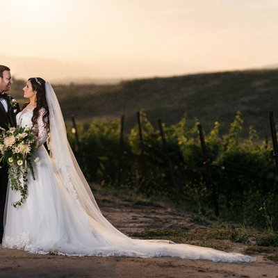 Callaway Winery Wedding: Wedding Photos at Sunset