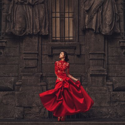 Red Wedding Dresses Los Angeles