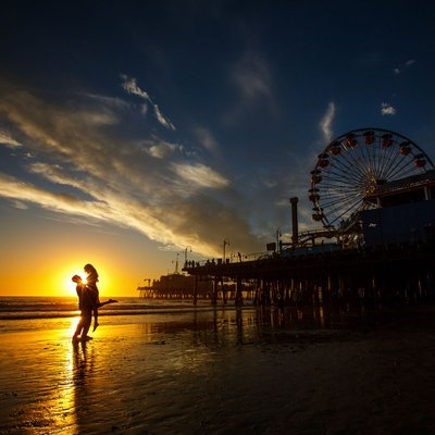 Santa Monica Engagement Pictures