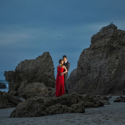 Sunset Engagement Session Malibu