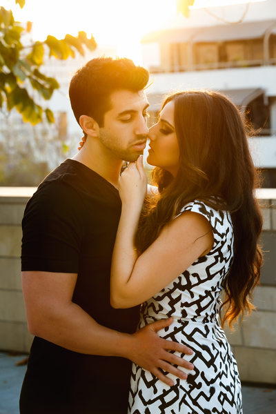 DTLA Engagement Photography