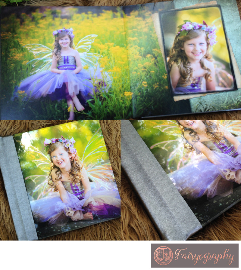 Purple and silver fairy album
