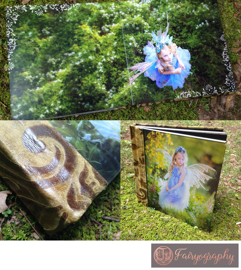 Green summer fairy custom album