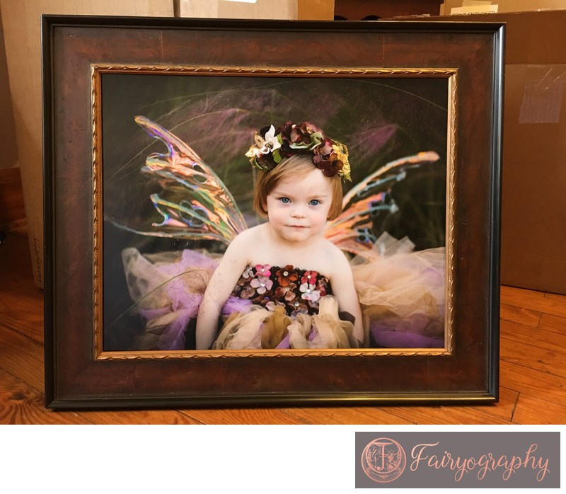 Framed fall fairy print