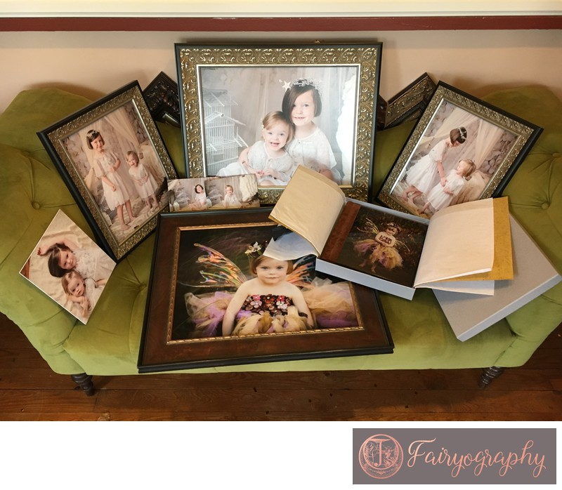 Client order of wall prints and albums