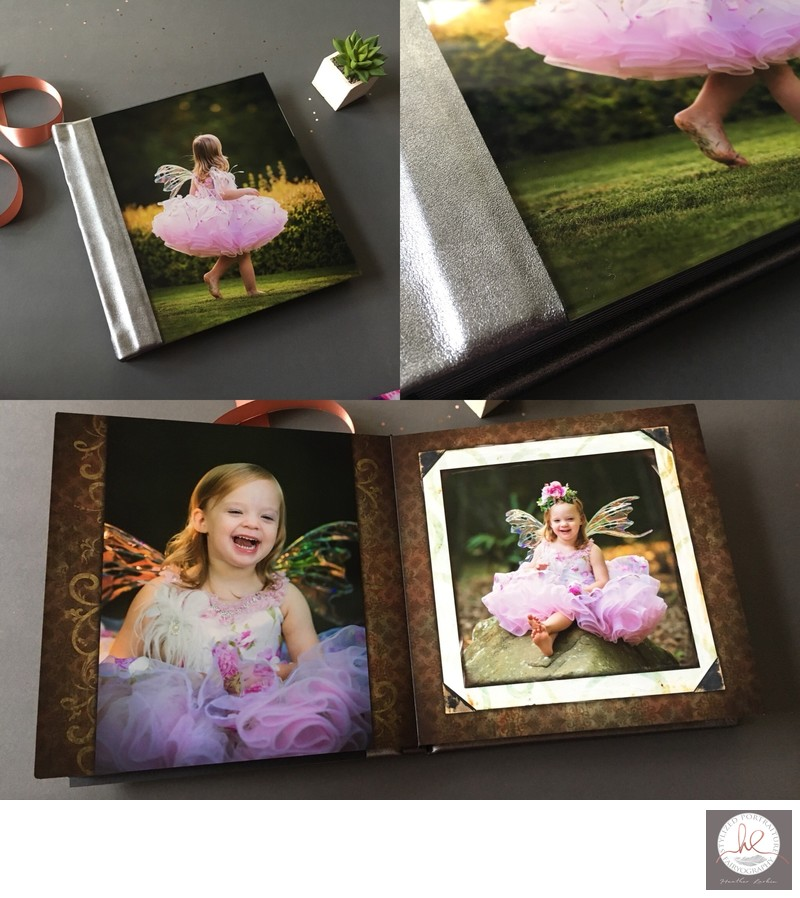 Baby fairy leather album